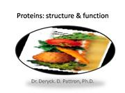 Structure & Function of Proteins