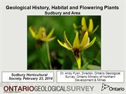 What On Earth: Geology and Wildflowers, Sudbury Ontario Area