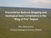 Bedrock Geology, Ring of Fire area, Ontario, Canada