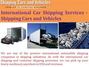 International Car Shipping Services - Shipping Cars and Vehicles