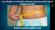 Ayurvedic Herbal Weight Loss Pills