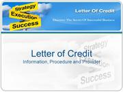 Avail Letter of Credit (LC) Bronze Wing Trading