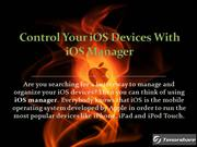 Control Your iOS Devices With iOS Manager