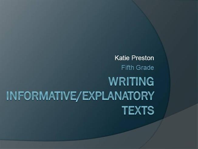How to write an informative essay ppt