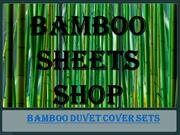Get Bamboo Duvet Cover Sets From Bamboo Sheets Shop