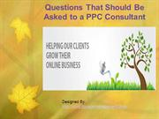 Questions That Should Be Asked to a PPC Consultant