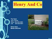 Henry and Co-home generator installation Fort Lauderdale Florida