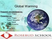 Global Warming, One of my school project works (Grade 9)