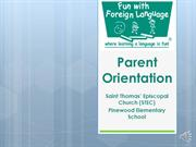 FwFL: Parent Orientation by Irene Lam