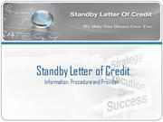 Avail Standby Letter of Credit (SBLC) Bronze Wing Trading