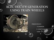 Train wheel electricity generation