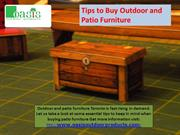 Tips to Buy Outdoor and Patio Furniture