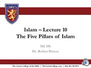 MI 210 Lesson 10 audio PPT- The Five Pillars of Islam-2