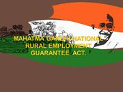 Mahatma Gandhi National Rural Employment Guarantee Act.