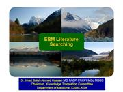 Part 4 Strategies in EBM Literature Searching