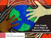 Fair Trade Diversitifcation and Climate Change