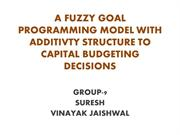 A FUZZY GP MODEL WITH ADDITIVTY STRUCTURE