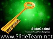 KEY WITH INNOVATION POWERPOINT BACKGROUND