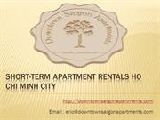 Short-term apartment rentals Ho Chi Minh City