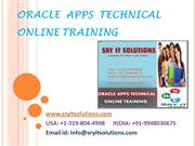 Oracle Apps Technical Online Training in Hyderabad | Apps Technical