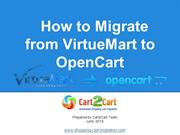 How to Migrate from VirtueMart to OpenCart