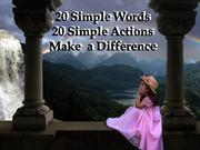 20 simple words 20 simple actions 20 big results