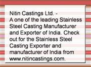 Casting Manufacturer India, Stainless St