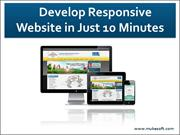 How to Develop Responsive Websites in 10 minutes