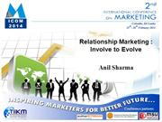 Relationship Marketing Involve to Evolve