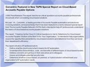 Corcentric Featured in New TAPN Special Report on Cloud-Based Accounts