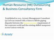 HR Outsourcing & Business Consultancy Firm