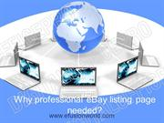 Why professional eBay listing page needed
