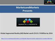 Augmented Reality Market (Virtual Reality) by Sensor Technology