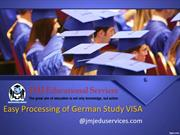 Easy processing of German study VISA