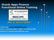 Apps Functional PPT | Oracle Apps Functional R12 Online Training