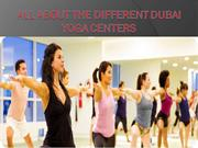 All About The Different Dubai Yoga Centers