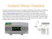 Electric drinking water emitters, multipoint water heater