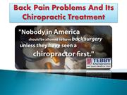 Back Pain Problems And Its Chiropractic Treatment