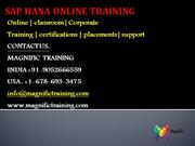SAP HANA DEV ONLINE TRAINING