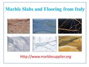 Marble Slabs and Marble Flooring from Italy