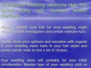 Motivational Wedding ceremony Hair this spring along with Summer seaso