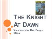 The Knight At Dawn Ch 1-3