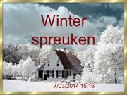 Winter spreuken