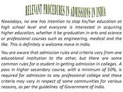 Relevant Procedures in Admissions in India