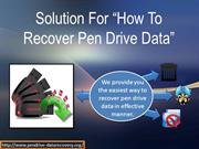 How To Recover Pen Drive Data