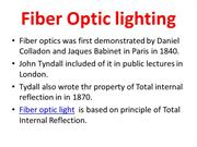 Fiber optic light for efficient lighting