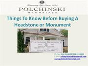 Things To Know Before Buying A Headstone or Monument