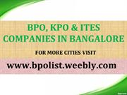 List of BPO companies in Bangalore - BPO List