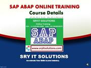 SAP ABAP Online Training Course Details