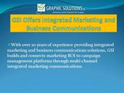 GSI Offers Integrated Marketing and Business Communications
